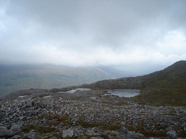 Lochans above Glas Choire Mor on the Breabag ridge