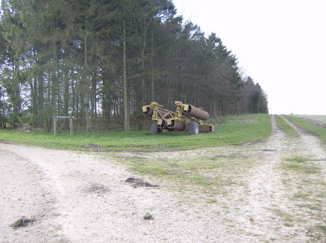 Byway and machinery on Great Litchfield Down