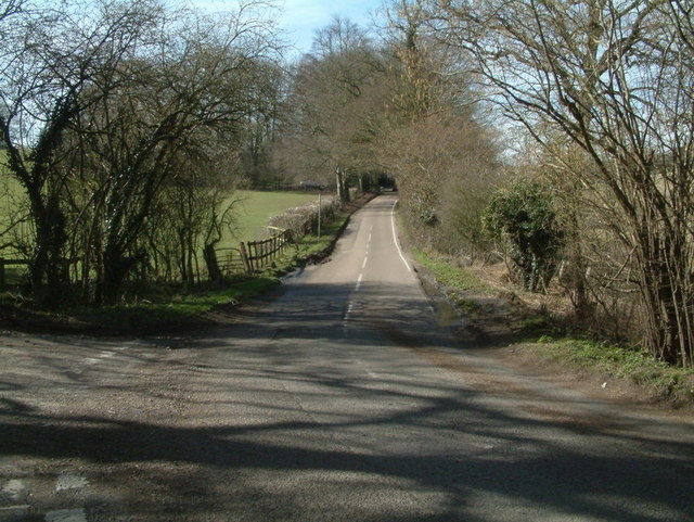 Chipstead Lane viewed from White Hill