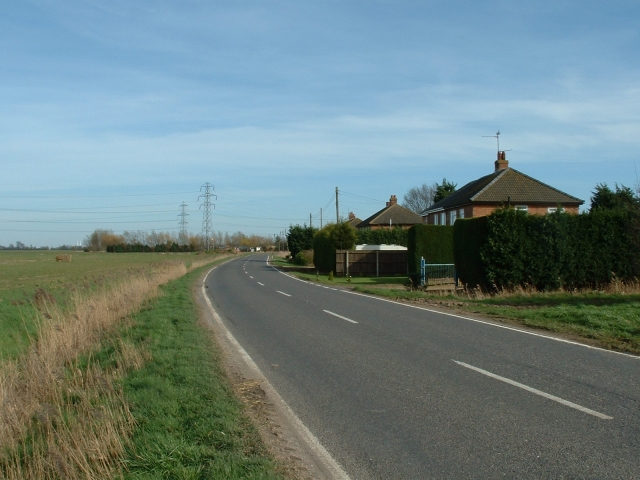 Roadside houses, B1165 near Tydd St Mary.