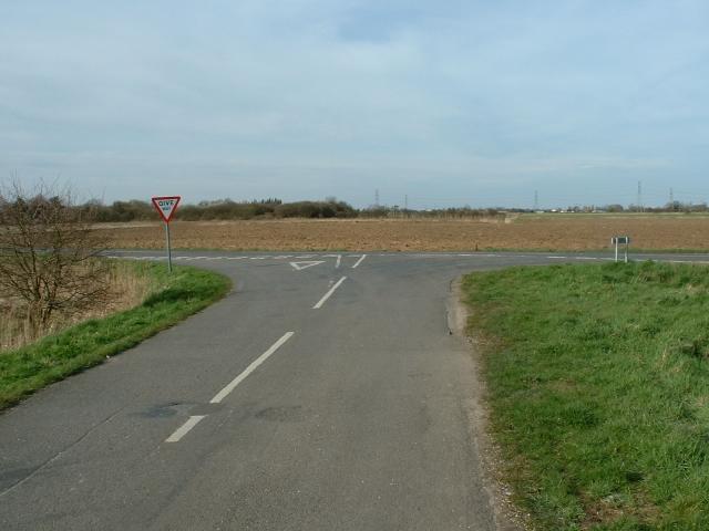 Road junction near Sutton St James.