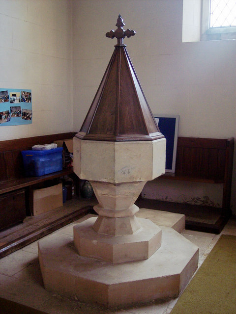 St Andrew's Church, Todber - Font