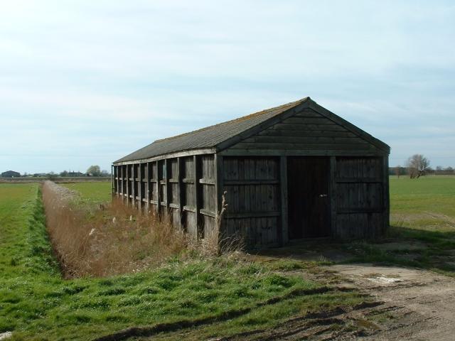 Wooden barn, Masterdyke, Sutton St James.