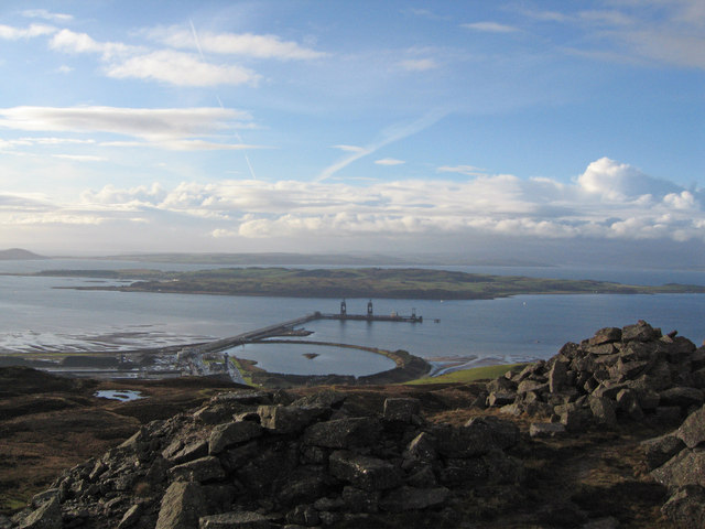 Hunterston Ore Terminal from Kaim Hill
