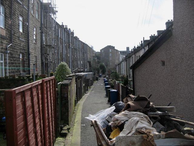 A Back Lane in Haslingden