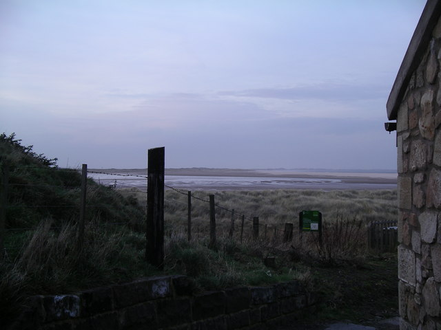 A view across Budle Bay from Heather Cottages