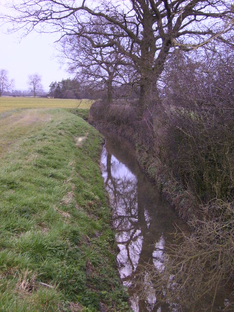 Double Dike seen from Fly Cross Bridge