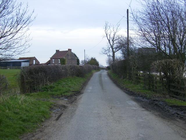 Fleet Cross on the left Brawby Lane Farm on the right