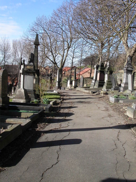 Long shadows at Dewsbury Cemetery
