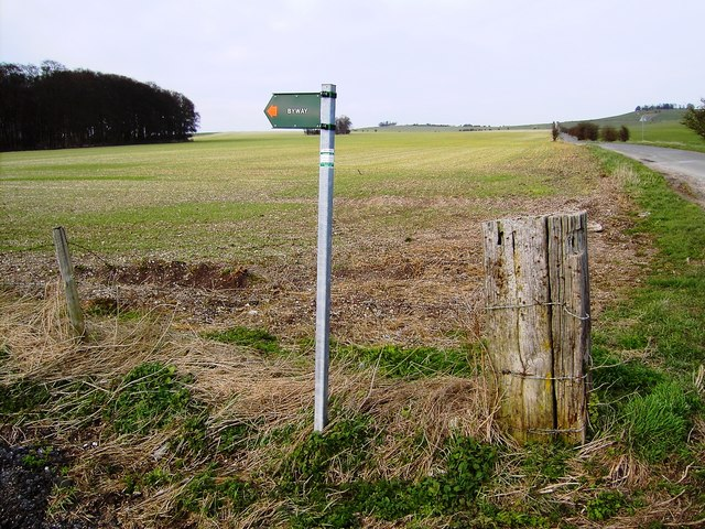 Byway sign near Westcot Down, Oxfordshire