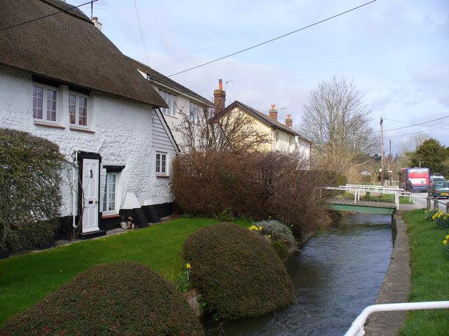 Shrewton, High Street - River Till