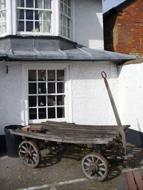 Cart at the Plume of Feathers, Shrewton