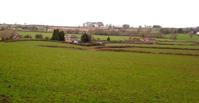 Scattered housing and farmland
