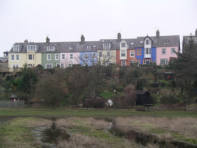 Houses overlooking the bay.