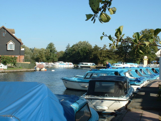 Day Boats at Wroxham
