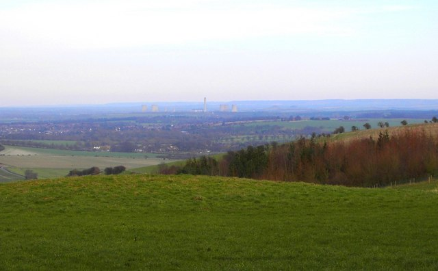 Didcot Power Station seen from the Ridgeway, Oxfordshire
