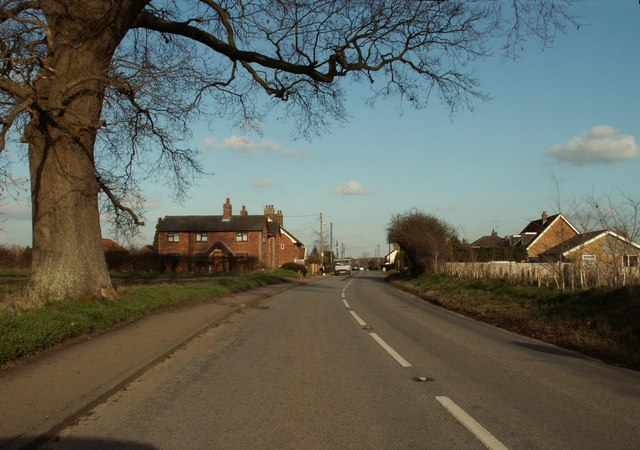 The road into Wortwell village