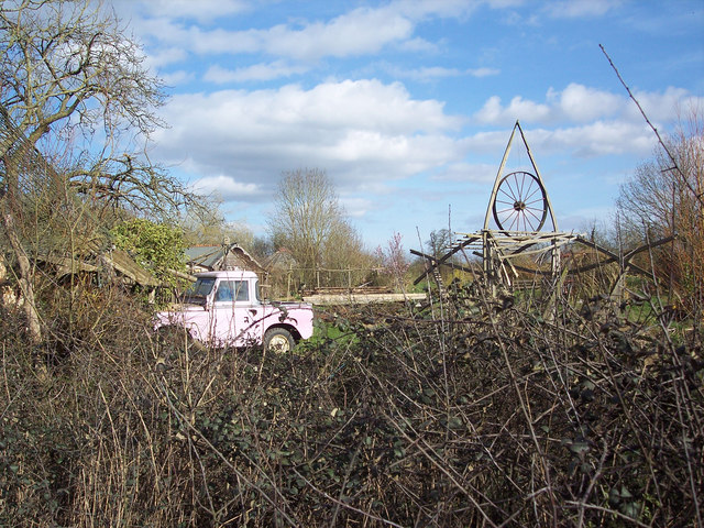 Barbie's Landrover at the Willows