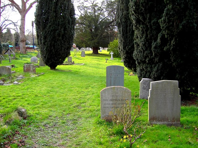 Graves of Astor and Orwell, All Saints, Sutton Courtenay