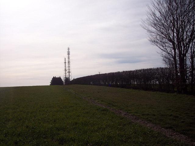 Telecommunications masts near the A360