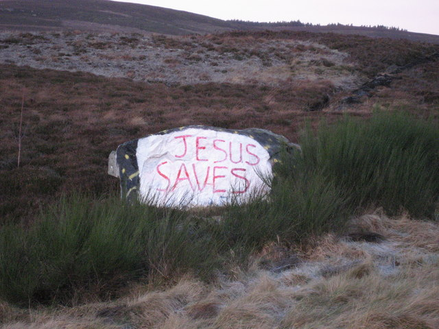 """Jesus Saves"""