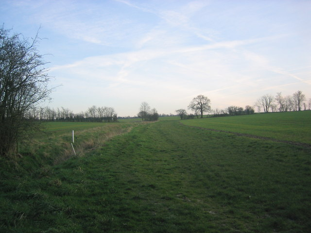 Path through fields south of Broadley Common