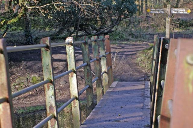 Footbridge over River Brock