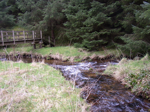 The Yoke Burn and White Burn join to form the River Alwin