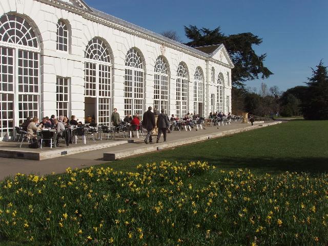 Orangery as a restaurant in Kew