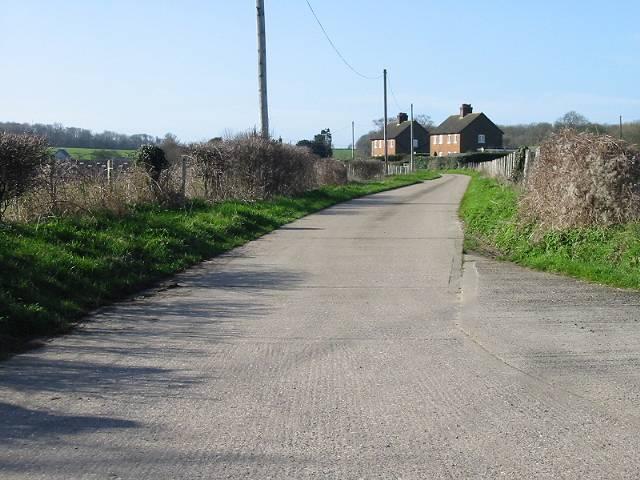 Farm road leading to West Court Farm