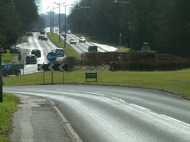 Chipstead Lane Roundabout looking South