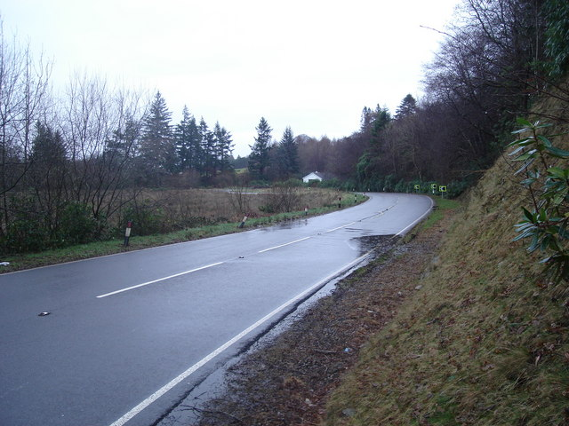 Sharp bend on the A828 north of Portnacroish