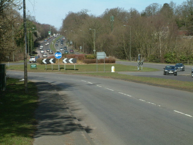 Chipstead Lane Roundabout looking North