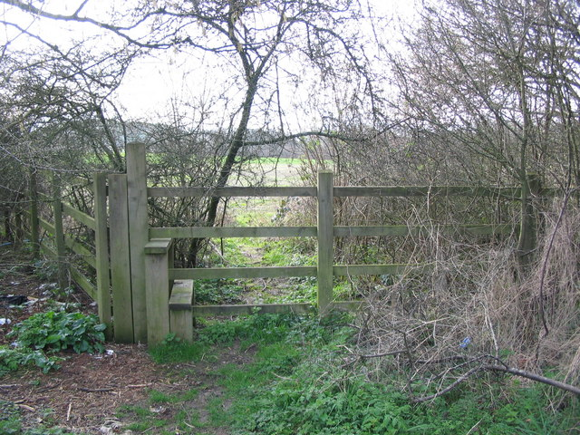 Obstructed footpath