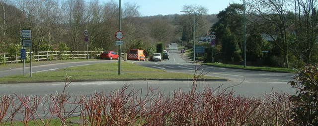 Chipstead Lane from the roundabout on the A217