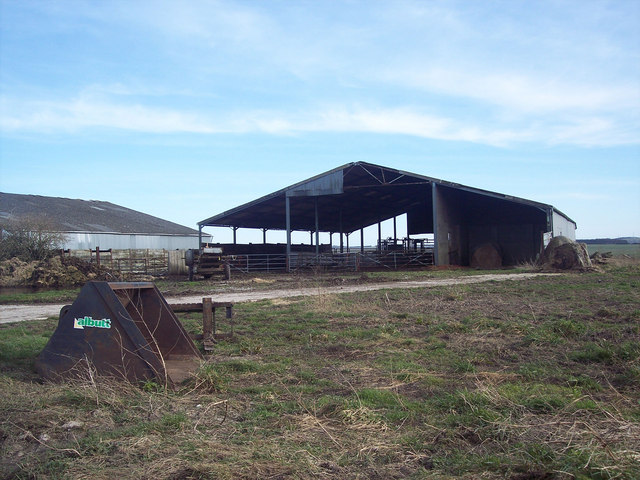 Farm buildings on Figheldean Field