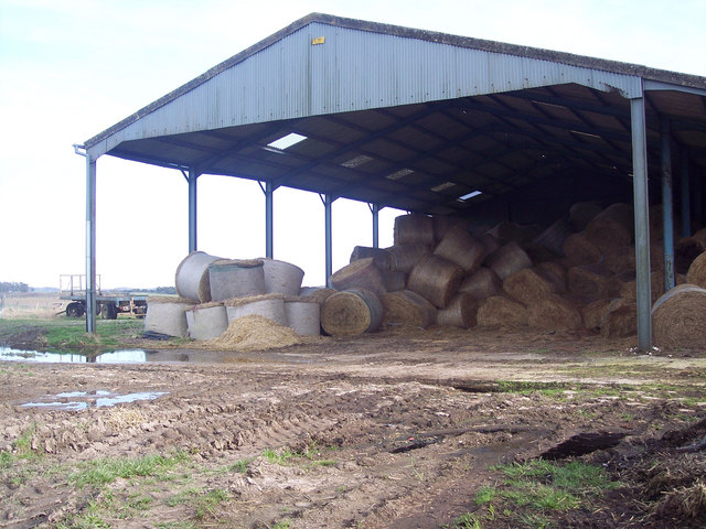 Fallen bales on Figheldean Field