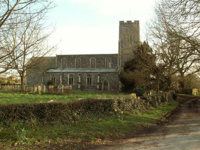 All Saints church at Mendham