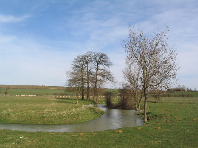 The Eye Brook upstream of Caldecott