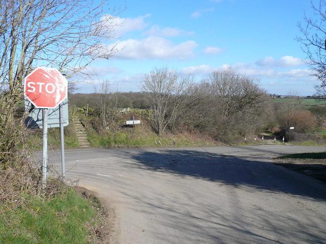 Bolehill Lane and Birkin Lane Junction