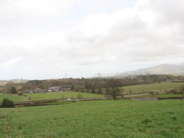 Fferm Tyddyn Forgan and the Pentir Electricity National Grid Sub-Station