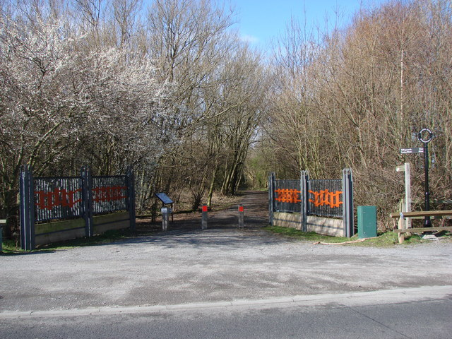 Entrance to The Seaton Burn Waggon Way from the B1317.