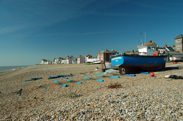 Fishing boat on Aldeburgh beach