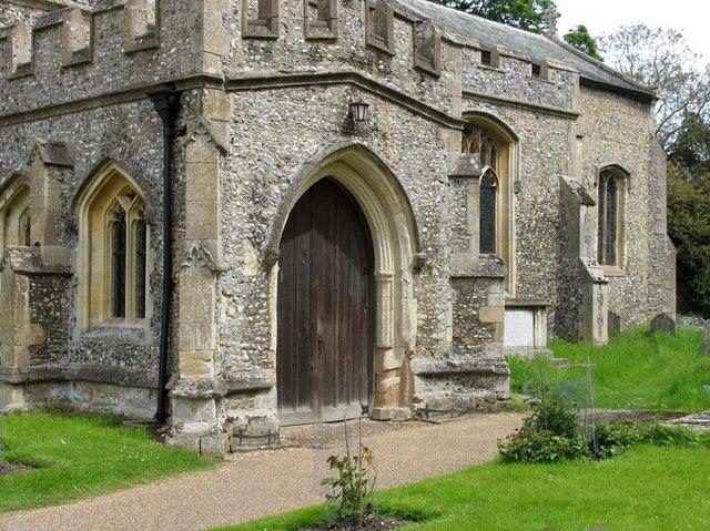S Andrew, Much Hadham, Herts - Porch