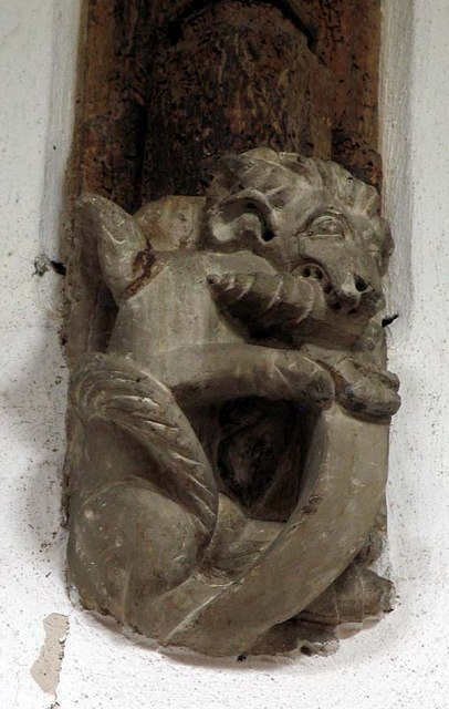 St Andrew, Much Hadham, Herts - Corbel