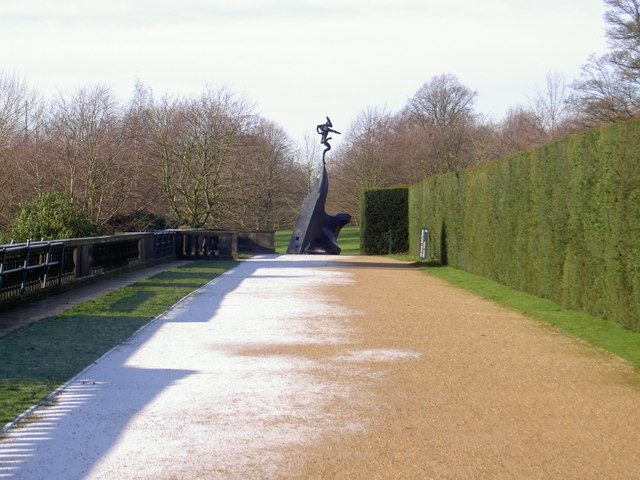 Formal walkway at Yorkshire Sculpture Park