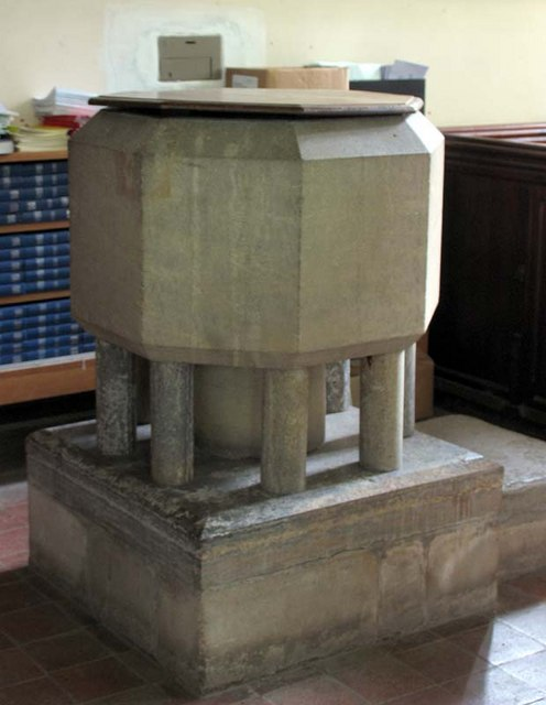 St Mary the Virgin, Albury, Herts - Font