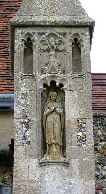 St Mary the Virgin, Albury, Herts - Statue
