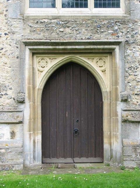 St Mary the Virgin, Albury, Herts - West door