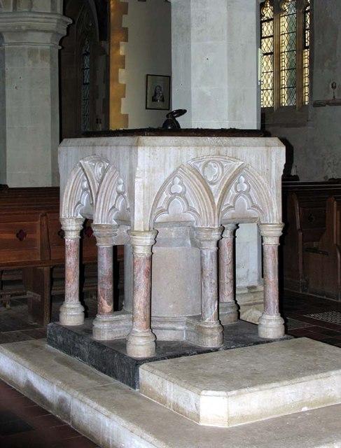 St Margaret of Antioch, Barley, Hertfordshire - Font